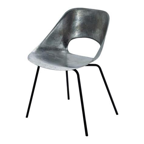 chaise guariche en aluminum  metal tulipe maisons du monde