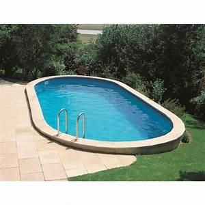 Piscine En Acier : piscine enterr e acier ovale x hauteur ~ Melissatoandfro.com Idées de Décoration
