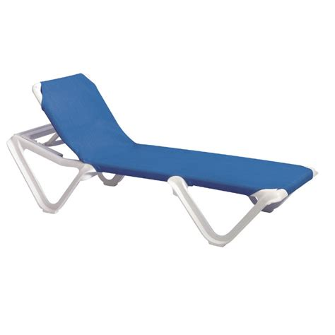 chaise longue grosfillex grosfillex nautical adjustable resin sling chaise lounge
