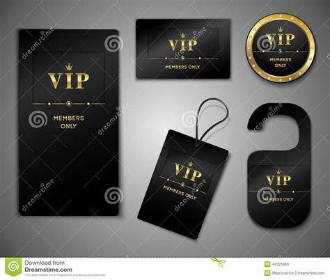 vip cards design template stock vector image
