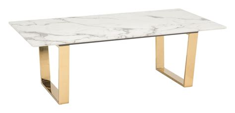 Devito cross legs coffee table small space living room decor. Modern Contemporary Urban Living Lounge Room Coffee Table, White Gold - Faux Marble Stainless ...