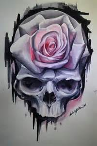 Awesome Skulls and Roses Drawings