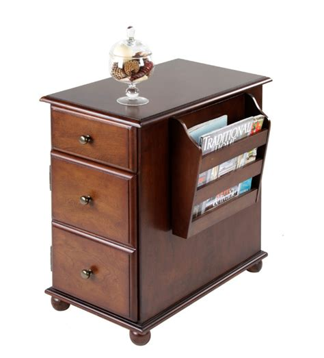 side table with l and magazine rack krissy end table with magazine rack traditional side