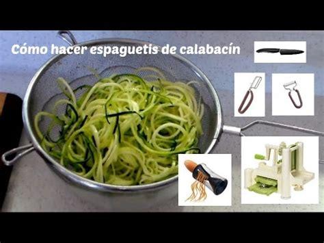 como hacer mo241os de c 243 mo hacer espaguetis de calabac 237 n