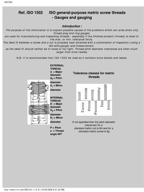 thread gauge ISO1502.pdf | Engineering Tolerance | Screw