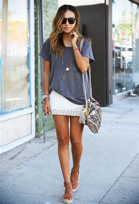 windy blouse white right ways to wear mini skirts style inspiration