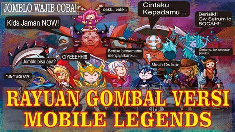 Baper!! Rayuan Gombal Versi Mobile Legends