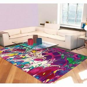 Tapis D Intérieur : tapis moderne violet d 39 int rieur rectangle marble arte espina ~ Melissatoandfro.com Idées de Décoration