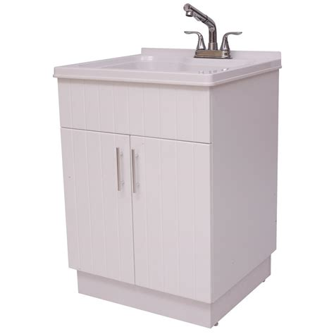 home depot laundry cabinets shaker laundry cabinet kit with pull out faucet ql058 the