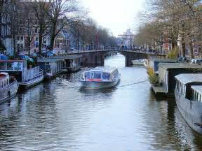Canal Boat Amsterdam Netherlands
