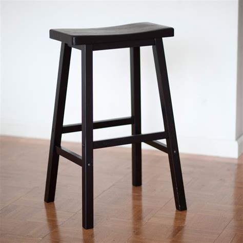 winsome wood 29 inch rta single saddle seat bar stool