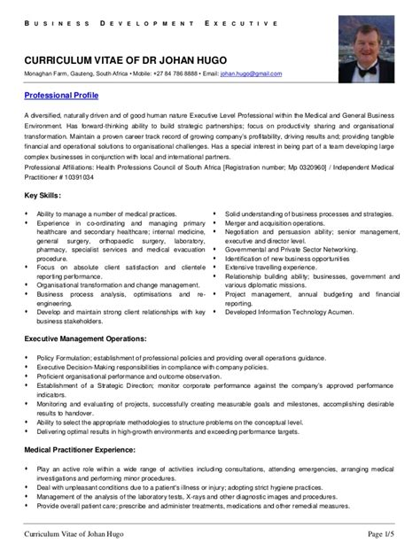 21208 resume exles for it professionals professional cv of dr johan hugo 1