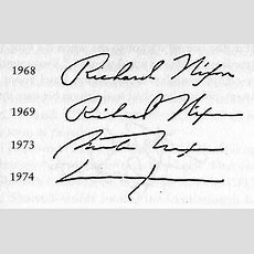 Changes Of Richard Nixon's Signature  Handwriting Graphologysignatures Pinterest
