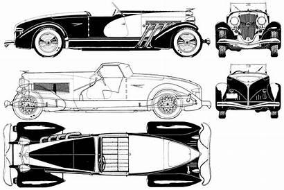 Blueprints Duesenberg 1933 Ssj Blueprint Drawing 1939