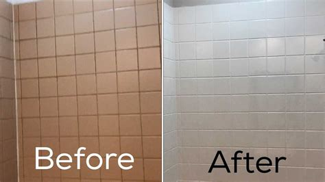 Painting Bathroom Tiles Before And After by Refinish Ceramic Tile Floor Refinish Ceramic Tile Floor