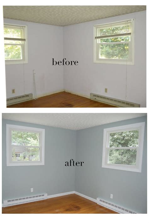 dusty miller paint  glidden painting  bedroom