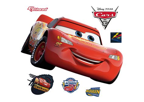 peel and stick wall lightning mcqueen cars 3 wall decal shop fathead for