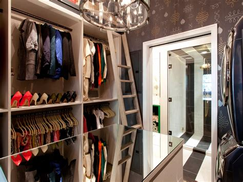 Walk In Closet Wallpaper by Walk In Closet With Purple Wallpaper And Mirrored Table Hgtv