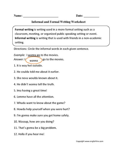 Word Usage Worksheets  Word Choice Worksheets