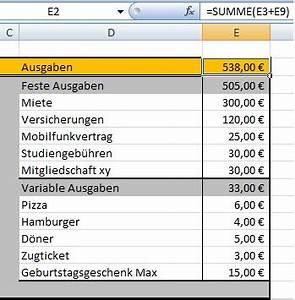 Miete Berechnen : budgetplaner mit excel erstellen chip ~ Themetempest.com Abrechnung