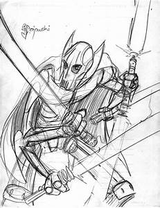 General Grievous Clone Colouring Pages