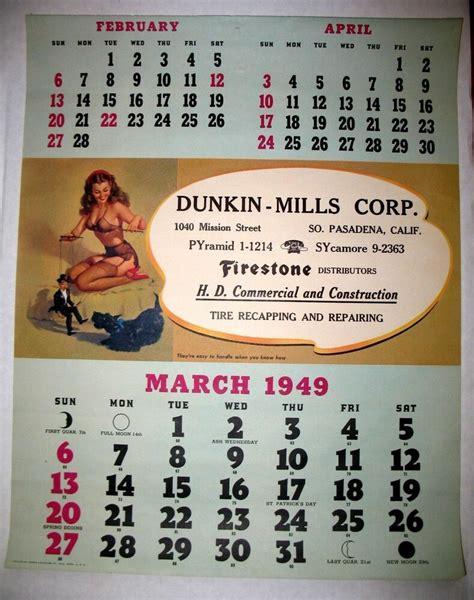 march  elvgren pin  girl calendar  firestone tire
