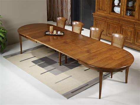table de cuisine 8 places table ovale 180x120 en merisier massif de style louis