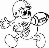 Coloring Football Pages Jelly Belly Mr Posted sketch template