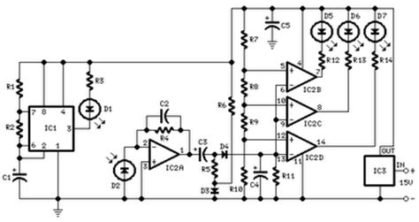 car parking sensor circuit  infra red led schematic