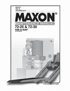 Maxon 72 Series Liftgate By The Liftgate Parts Co
