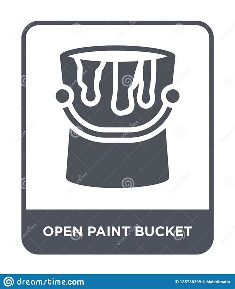 Free 20l tin paint bucket mockup for free. Open Paint Bucket Icon In Trendy Design Style. Open Paint ...