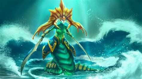 video game dota  naga siren fanart wallpaper hd