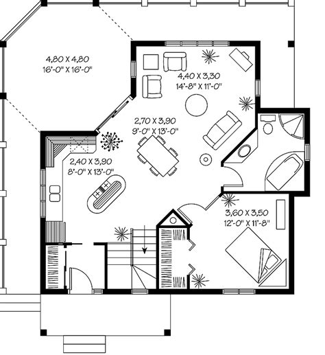 Large one bedroom house plans  Home design and style