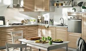 explications pour amenager sa deco cuisine en bois clair With deco cuisine bois clair