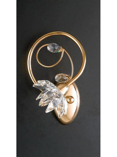 Applique Moderno by Applique Moderno Oro Con Cristalli 1 Luce Lgt Teo Ap1