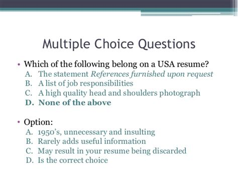 resume writing choice questions writing a results oriented and relevant resume for college students