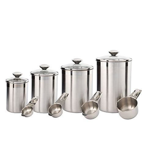 kitchen counter canisters silveronyx canister set stainless steel beautiful