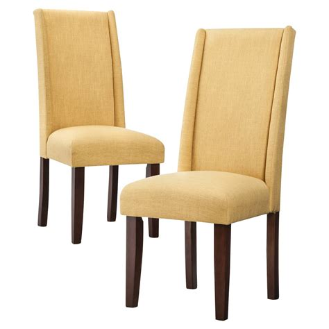 modern wingback dining chair set of 2 ebay