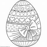 Coloring Easter Egg Getcoloringpages Eggs sketch template