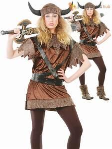 Adults Viking Costume Mens Ladies Medieval Warrior Fancy ...