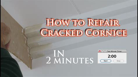 How To Cornice - this is how to repair a constant cracking cornice