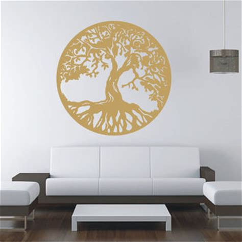 Gold Tree Of Life Vinyl Decal Wall From Tibi291 On Etsy