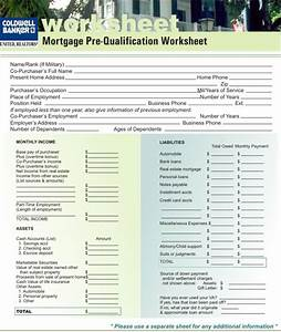 mortgage pre qualification worksheet worksheets tataiza With documents for pre approval home loan