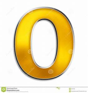 Isolated Letter O In Shiny Gold Stock Illustration