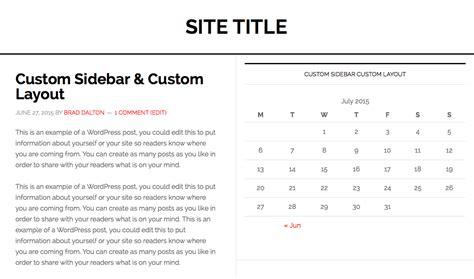 create new page template for blog in genesis custom sidebar for custom layout in genesis