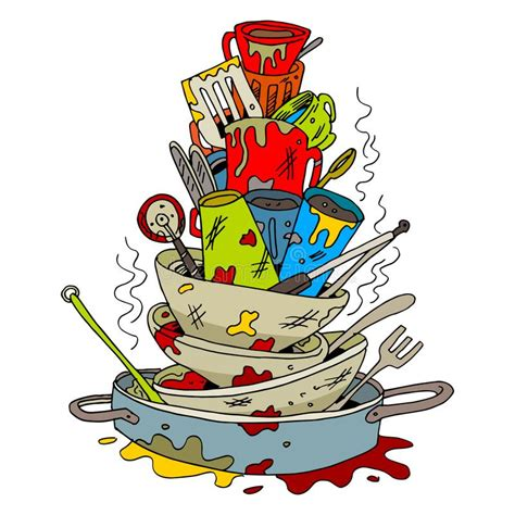 cartoon images  dirty dishes  sink  sink