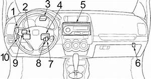 Honda Fit  2006 - 2008  - Fuse Box Diagram