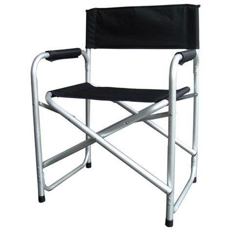 lightweight foldable directors chair with padded arms