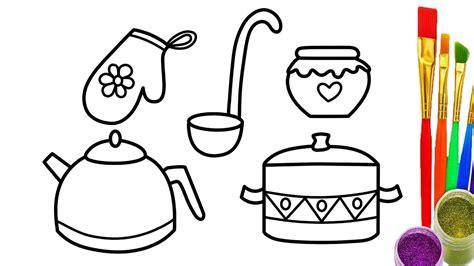cooking utensils drawing  getdrawingscom