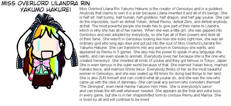 Touhou Forbidden Template by Introducing By Shakethatpony On Deviantart